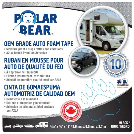 automotive foam tapes polar bear products. Black Bedroom Furniture Sets. Home Design Ideas