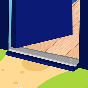 How to install Polar Bear Product Door Threshold Products